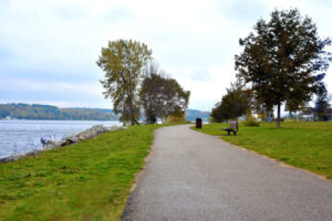 Enjoy paved walking trails at Elberta's Waterfront Park
