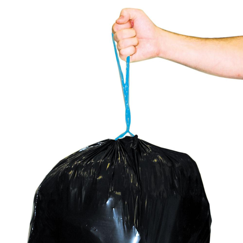 Black Trash Bags With Drawstring